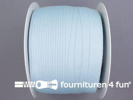 Rol 100 meter katoenen keperband 14mm licht blauw