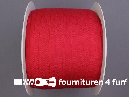 Rol 100 meter katoenen keperband 14mm rood