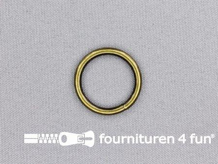 Stalen ring 20mm brons