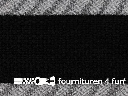 Katoen-look tassenband 38mm zwart